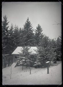 Finley house, snow scene (1909-01-09)