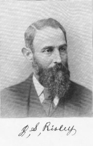 Photograph of Jacob Swain Risley including his signature