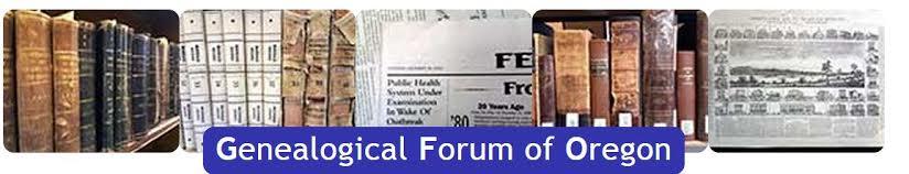 Genealogical Forum of Oregon Web Banner